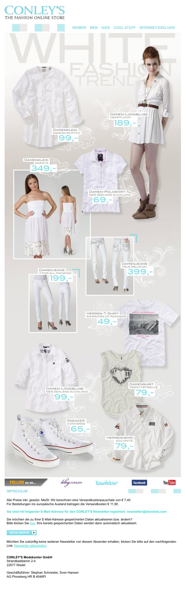 CONLEY'S | White Fashion Trends