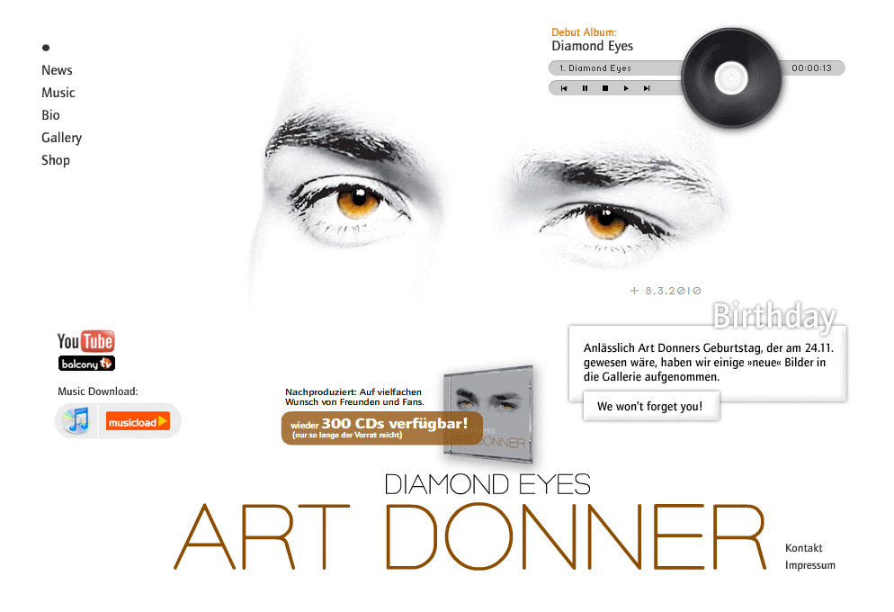 ART DONNER - Flash-Website