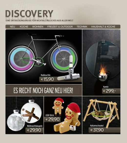 DISCOVERY | Newsletter - Neues Sortiment