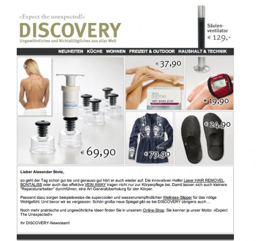 DISCOVERY | Newsletter - Juli 2009